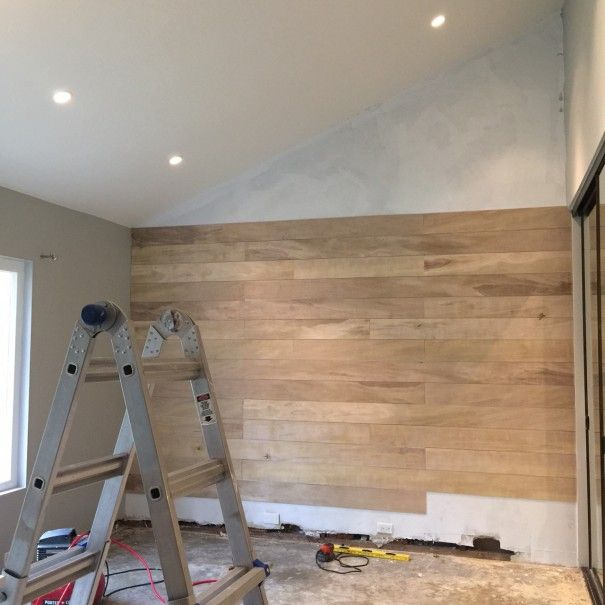 How To Make A White Washed Wood Plank Accent Wall