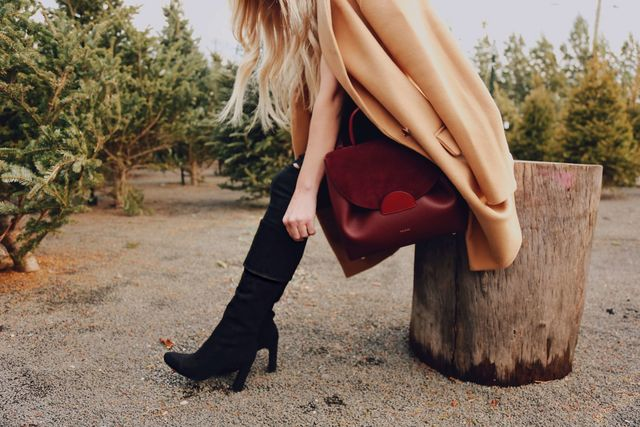 b949a33a569 How good are these KNEE HIGH BOOTS. (Black and Camel color) You can wear  them cuffed as shown or un-cuff them and wear over the knee.