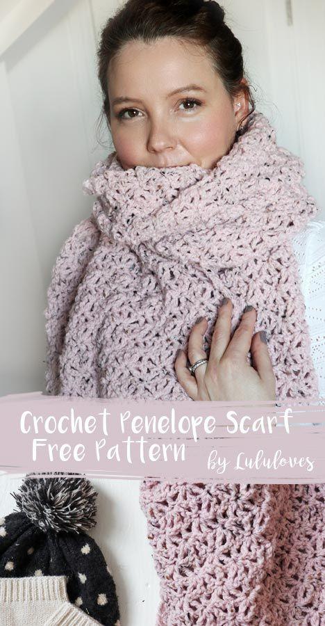Free Crochet Pattern Penelope Scarf Lululoves Crochet Bloglovin