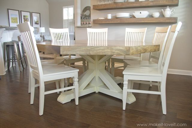 Diy Octagon Dining Room Table With A Farmhouse Base