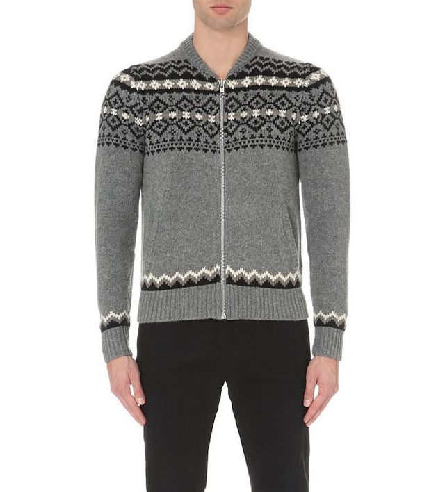 premium selection 29039 f6aec The Kooples Fair Isle Print Wool Cardigan