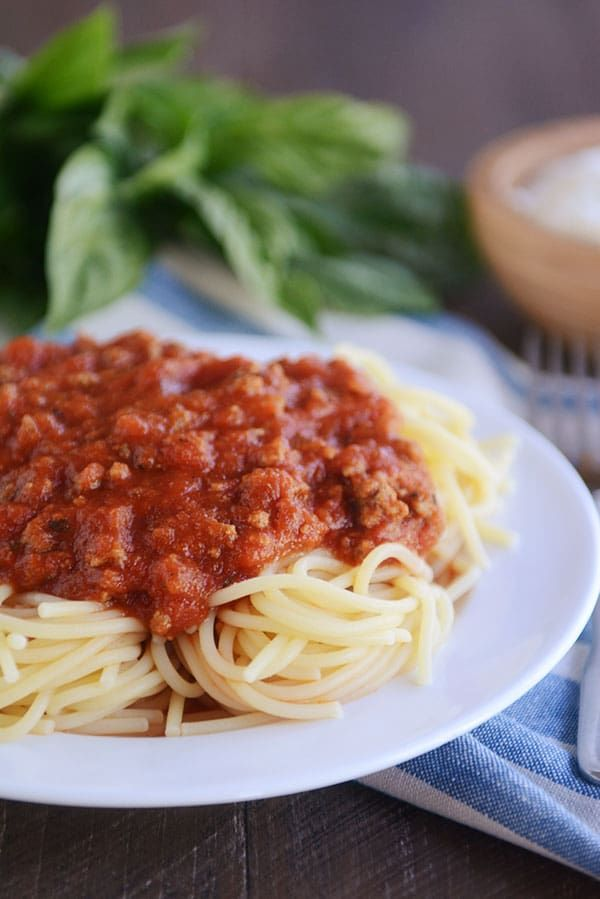 The Best Homemade Spaghetti Sauce Recipe Mels Kitchen Cafe