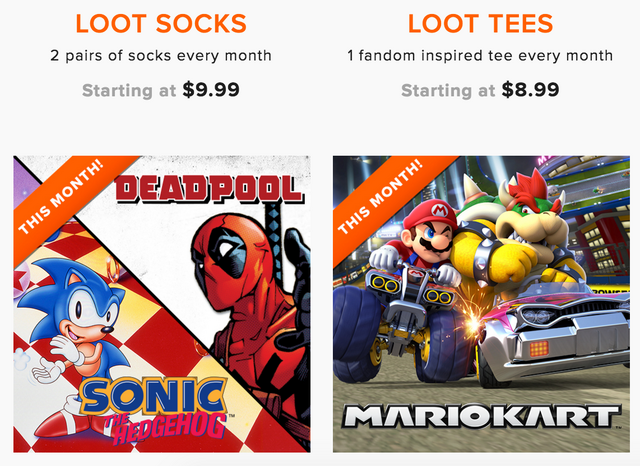 Loot wear coupon code 15 off any length subscription my if you arent familiar with the loot wear subscription they offer 4 different types of subscriptions loot socks loot tees loot wearables and loot for fandeluxe Images