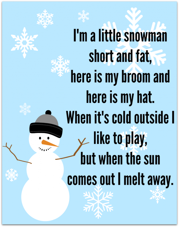 Snowman song free printable no time for flash cards bloglovin i have no idea where i first heard this song that goes to the tune of im a little teapot ive been signing it and messing up its lyrics for decades stopboris Image collections