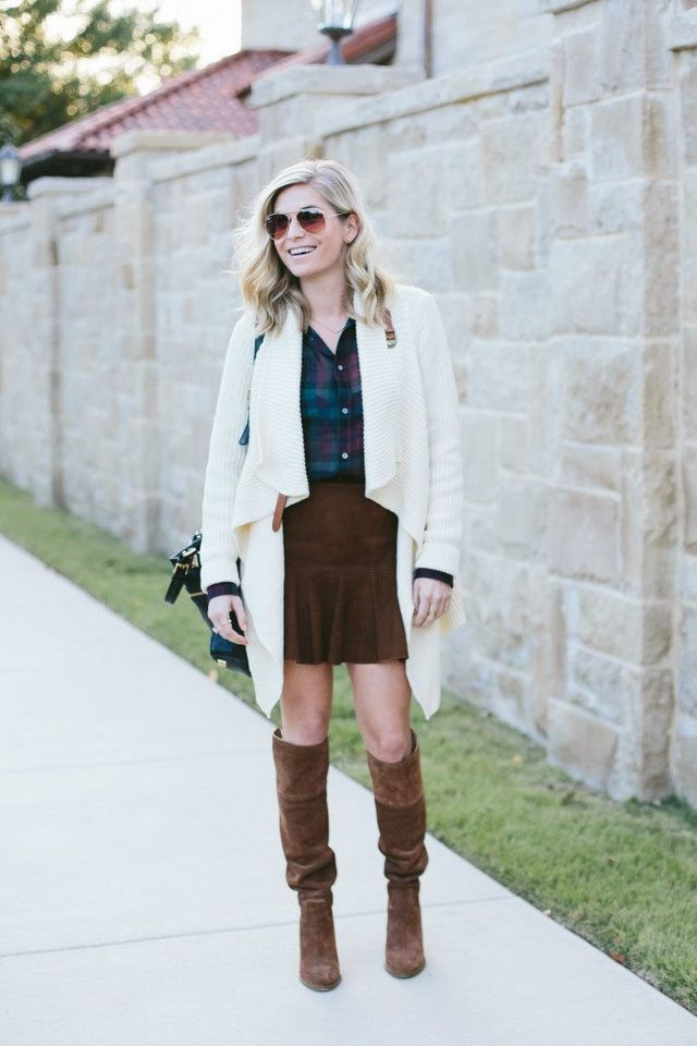 a6c1d4b02e8 If you re in search of a last minute Thanksgiving outfit idea think plaid  and suede… Now let s be real I ll be wearing something a little more  comfortable ...