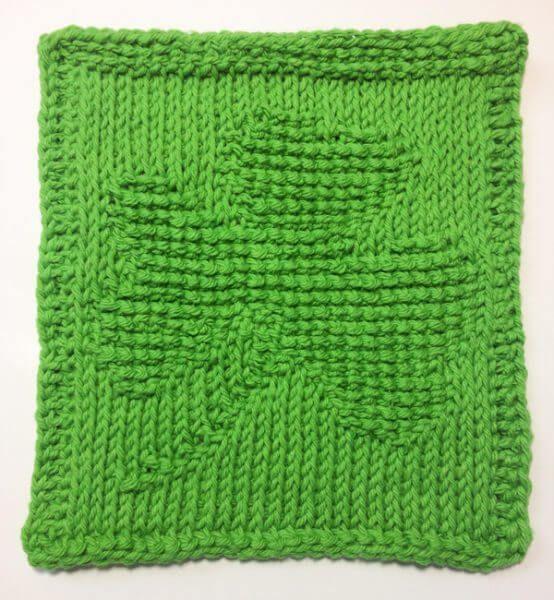 Shamrock Tunisian Crochet Dishcloth March Finale Petals To