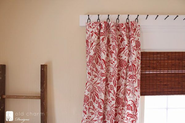 25 creative diy curtain rod tutorials remodelaholic bloglovin inspired by charm forged nail curtain rod solutioingenieria Images