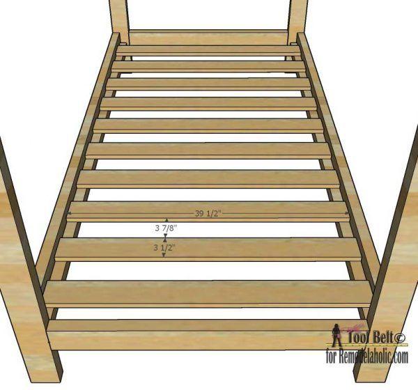 house frame twin bed building plan remodelaholic bloglovin. Black Bedroom Furniture Sets. Home Design Ideas