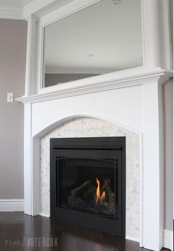 Beautiful Tiled Fireplace And Mantel Update Remodelaholic Bloglovin