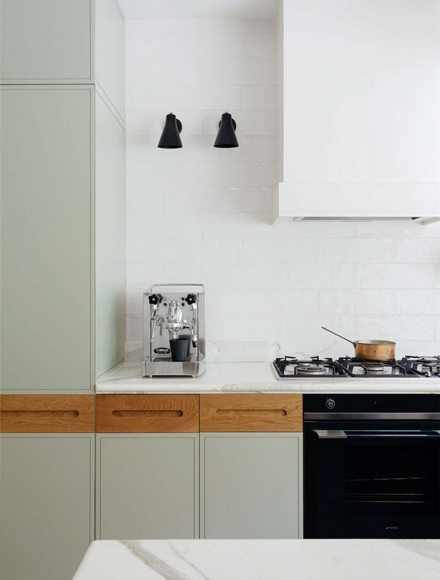 Kitchen of the week a before after remodel in sydney for Brushed sage kitchen cabinets