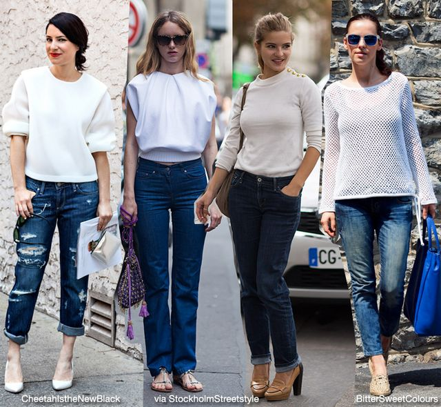 Basic: White Shirt/Top   Jeans | Blue is in Fashion this Year ...