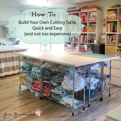 Build your own diy cutting table for your sewing room for Build your own room