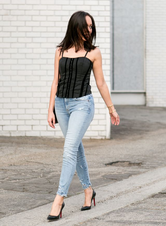 bfb0702d579 How to Wear a Bustier from Day to Night | Sydne Style | Bloglovin'