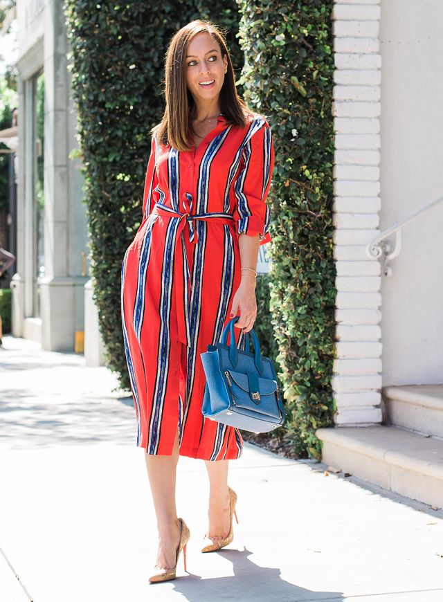 5d6c3243c9 How to Wear a Shirt Dress  Day to Night. Pin. Share