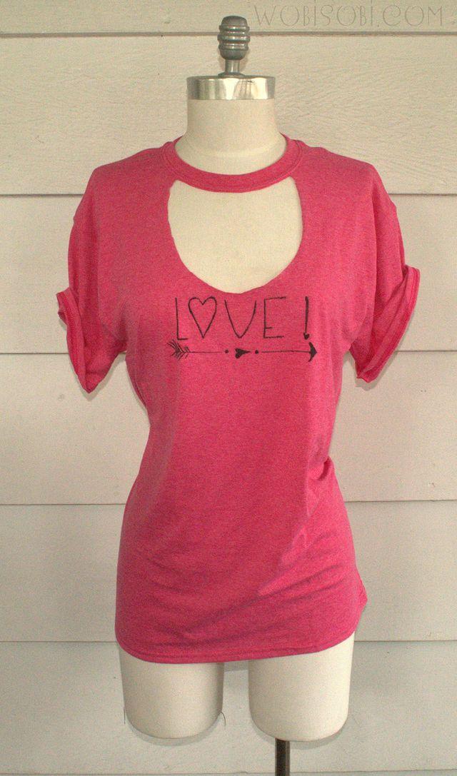 Cutout; Love T-Shirt DIY | WobiSobi | Bloglovin\'