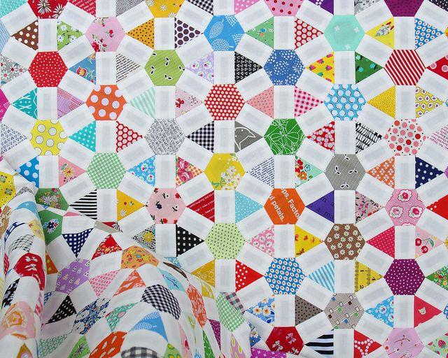Wagon Wheel Quilt - An English Paper Piecing Project - Part 3 Red Pepper Quilts Bloglovin