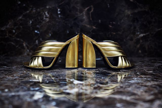 23b3c8e5cc0 Shoe Of The Month  Gucci  Sylvia  Crossover Metallic Mules