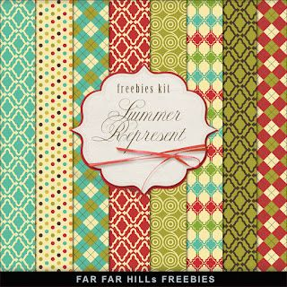 New Kit of Freebies Papers - Summer Represent | Far Far Hill