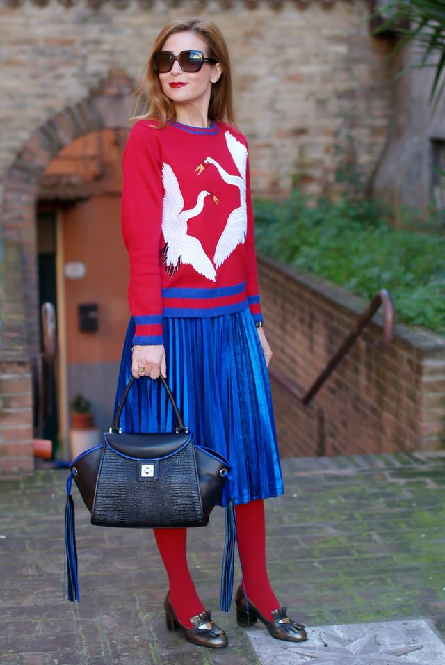 060a69329732 Edgy and colorful: Gucci inspired outfit and my new Paris bag from Iaya  Asciani