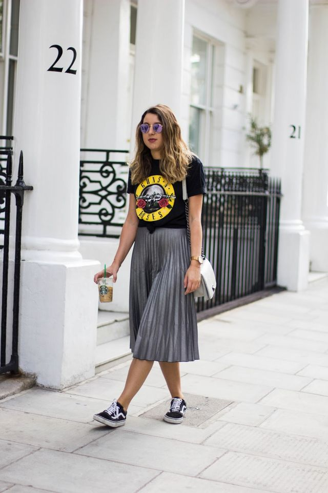 82002bc536 Dressing Down A Pleated Midi Skirt | What's In Her Wardrobe | Bloglovin'