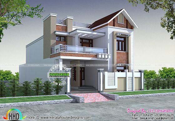 Front Elevation 30 60 : Front decorative house elevation kerala home design