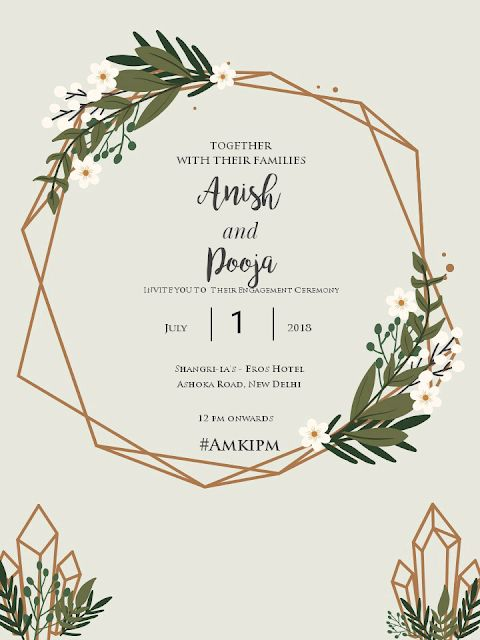 how to make invitation for free engagement card template being