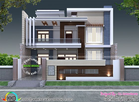 35 39 x 60 39 decorative style contemporary home kerala home for 35x60 house plans