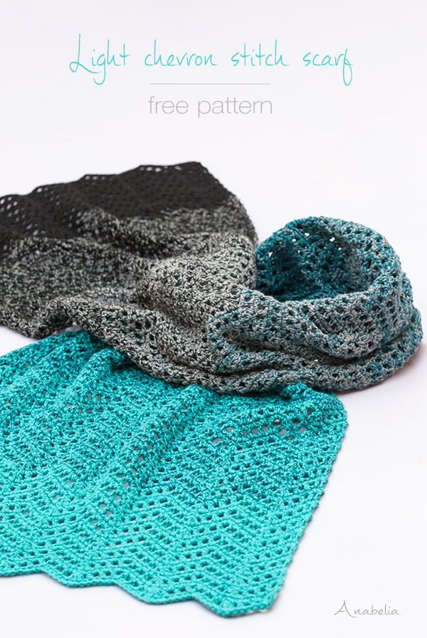 Crochet shawl in delightful chevron stitch | Anabelia Craft Design ...
