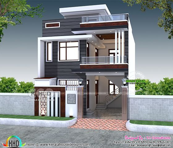 2200 Sq Ft 4 Bedroom India House Plan Modern Style Kerala Home Design Bloglovin
