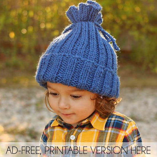 Easiest Toddler Kids Hat Ever Free Knitting Pattern Gina Michele