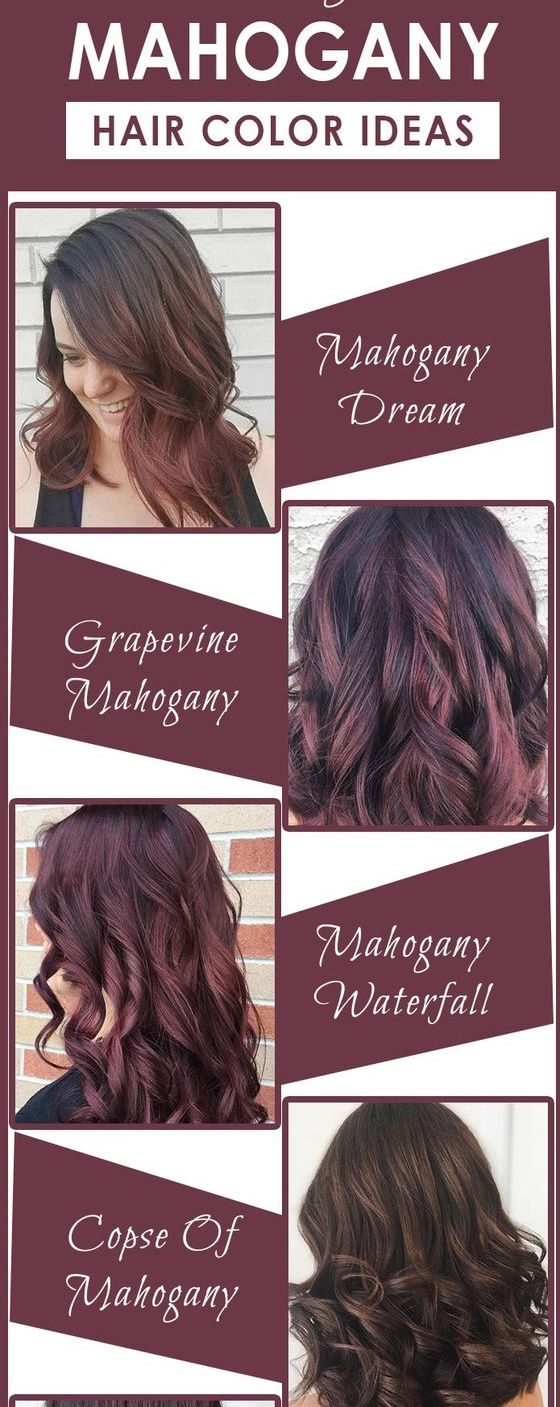Mahogany Hair Color Inspiration Hairstyles Hair Color For Long