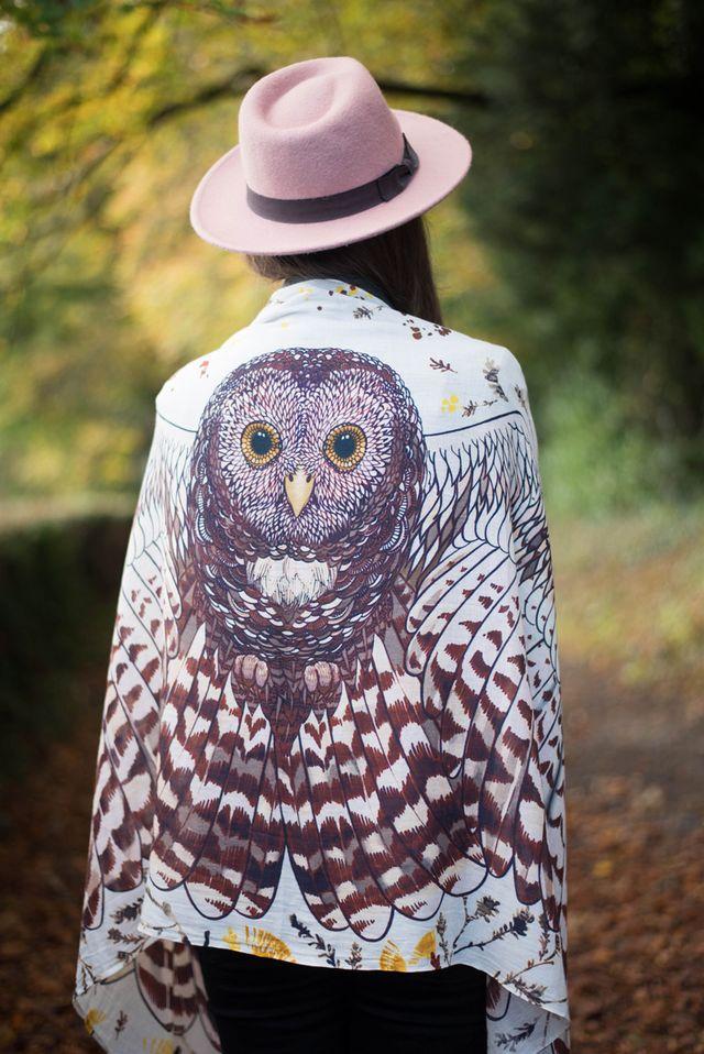 fc56b13d531 Shovava Boho Owl Scarf
