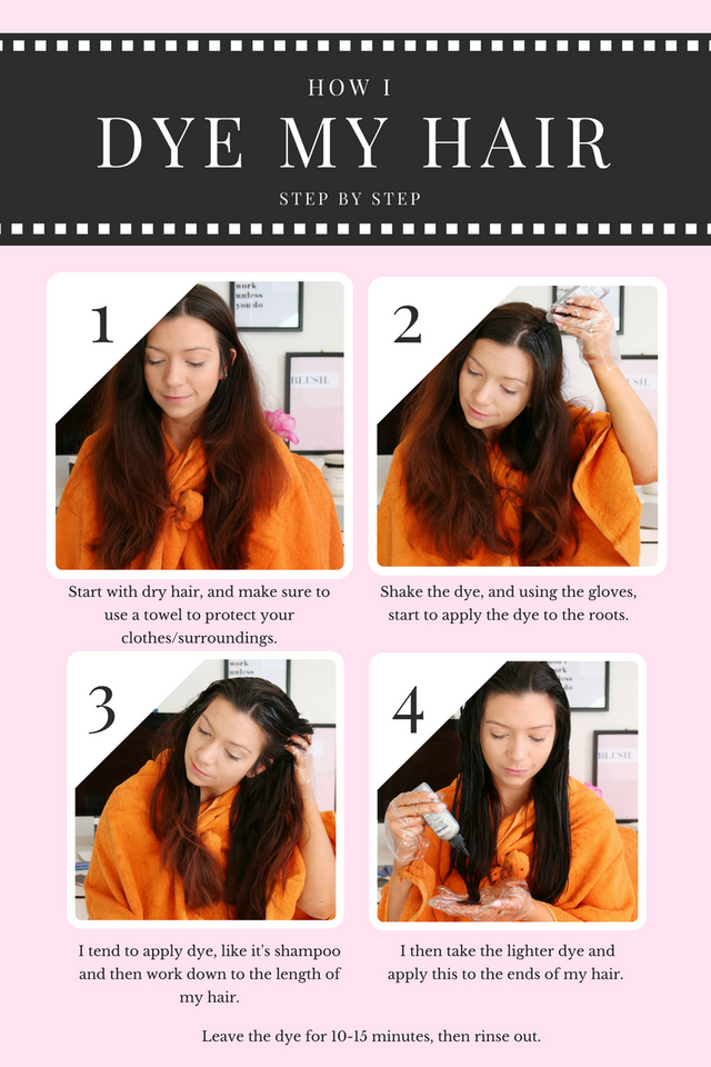 How i dye style my hair at home dizzybrunette3 bloglovin first of all once wrapping myself up with an old towel and making sure my hair is brushed through i will get the dye out of the box which doesnt even urmus Choice Image