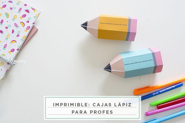 imprimible: cajas lápiz para profes   Milowcostblog   Bloglovin\'