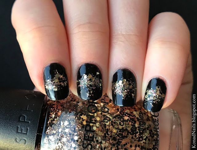 New Year\'s Eve nail art | Konad Addict | Bloglovin\'