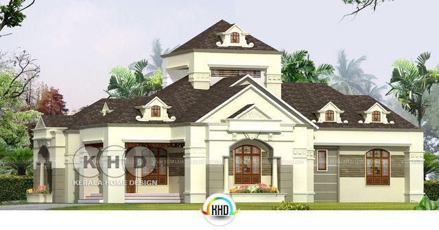 3 Bedroom Colonial Look Single Floor House Plan Total Area Of This Is 2527 Square Feet 235 Meter 281 Yards