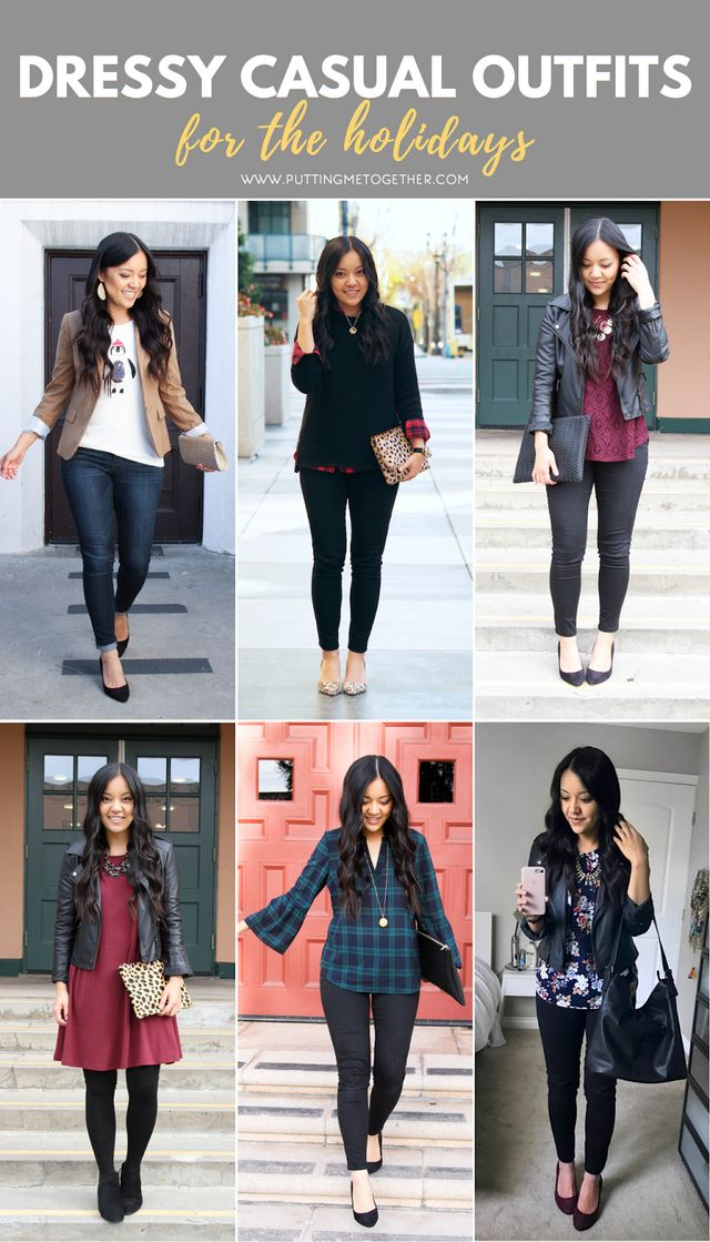 What To Wear To Dressy Casual Holiday Events Putting Me