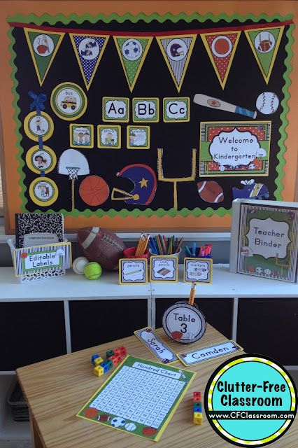 Classroom Decoration Printables Free : Sports themed classroom ideas printable