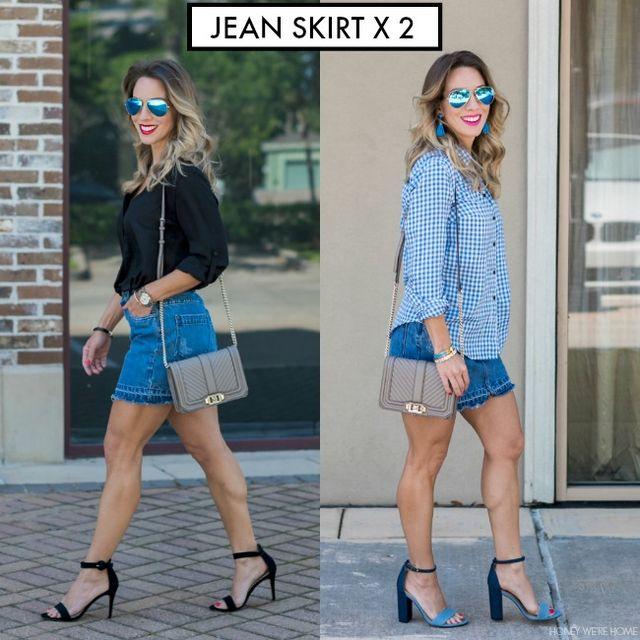 Jean Skirt x 2  71d0312eb