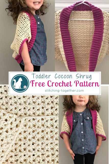 Kids V Stitch Shrugcardi Free Crochetpattern Bees And Appletrees