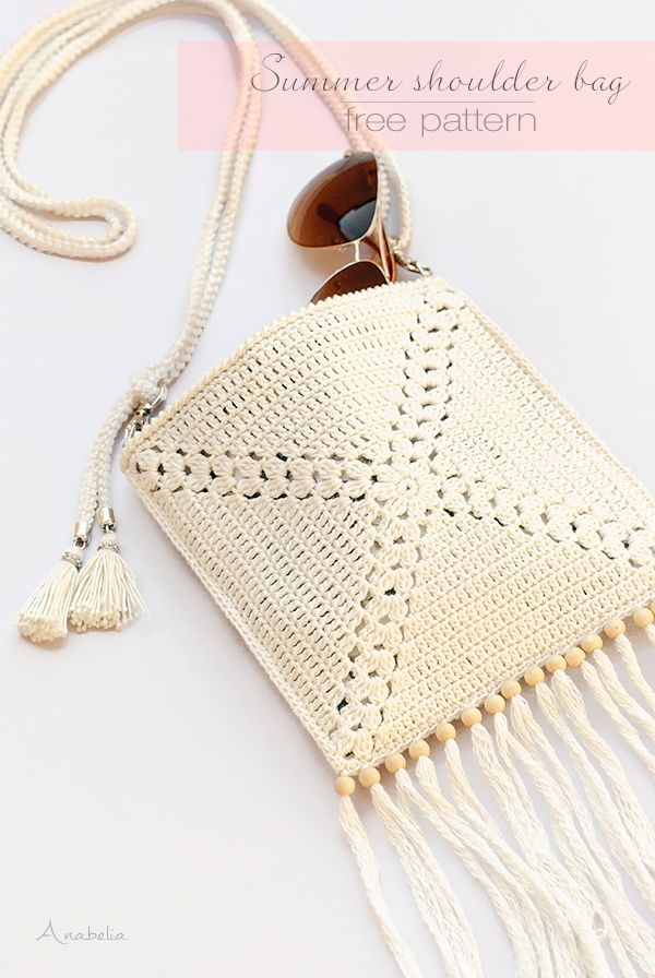 How to make a Summer Crochet Shoulder Bag | Anabelia Craft Design ...