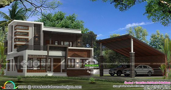 2712 sq-ft separate car porch residence | Kerala home design ... on home bank, home source, home state, home color, home club, home style wood houses, home restaurant, home land, home court, home residential, home apartment,