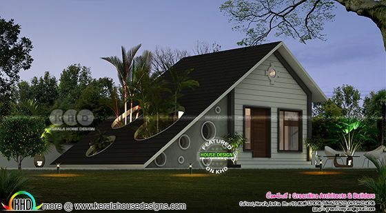 1 Bedroom Low Cost Home In In Simple Style Kerala Home Design Bloglovin