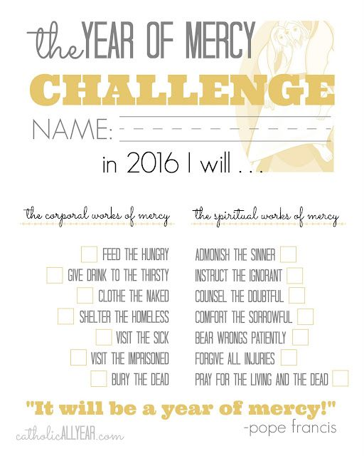 The year of mercy family challenge catholic all year bloglovin as with all my printables you are welcome to save the images to your computer for your own personal use you may print the images and or upload them and fandeluxe Image collections