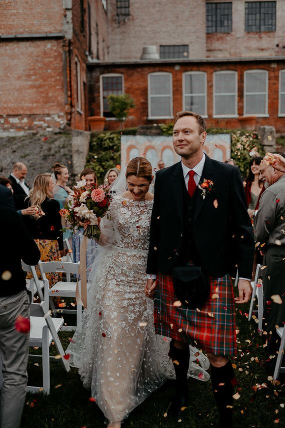 22420515eb A print maker s thoughtful DIY fall wedding in The Finger Lakes… with kilts!