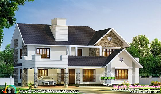 2980 Sq Ft Semi Contemporary With Colonial Style