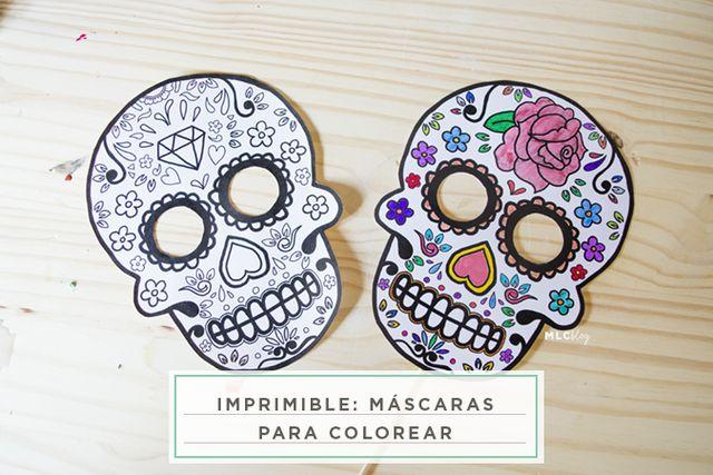 imprimible: máscaras para colorear | Milowcostblog | Bloglovin\'