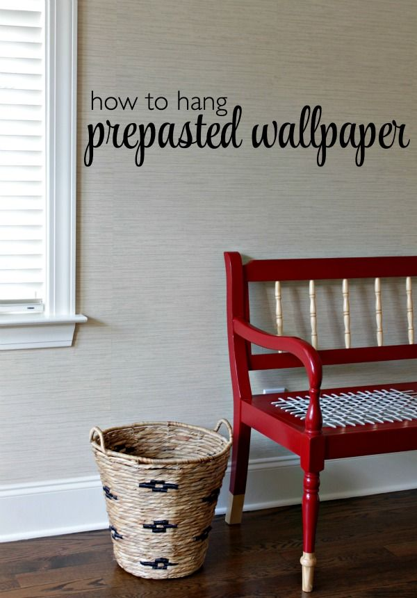 How To Hang Pre Pasted Wallpaper Our Fifth House Bloglovin