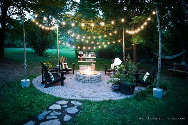 Country Cottage Diy Circular Firepit Patio Brooklyn