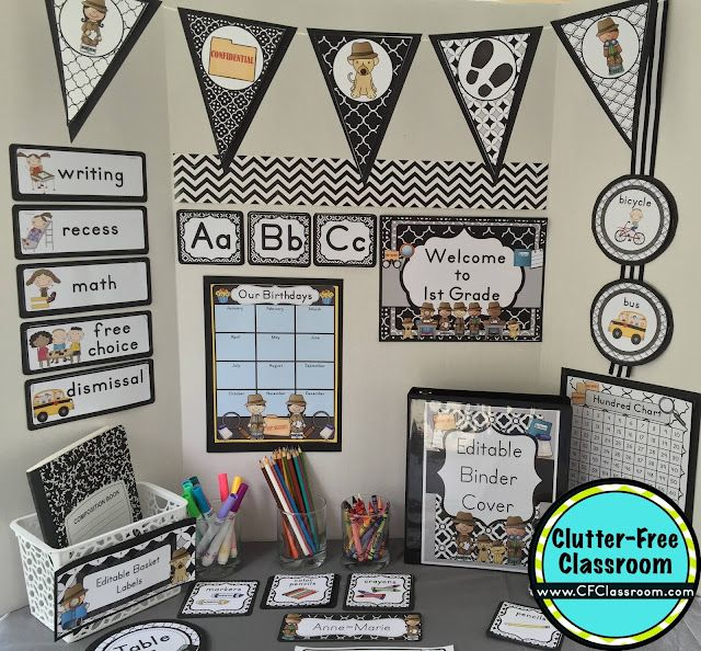 Classroom Decoration Printables Free : Mystery detective themed classroom ideas printable